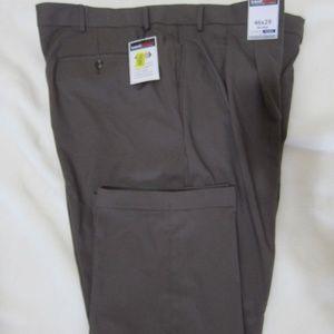 Roundtree & York Travel Smart Pants Brown 46x29